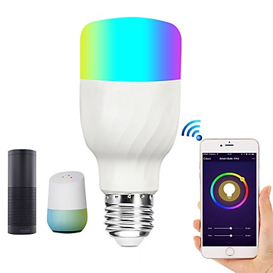 brelong slimme wifi slimme gloeilamp rgbw dimbare led-lamp compatibel met alexa / google startpagina