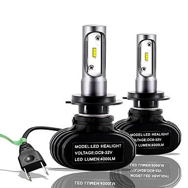 billige Billamper-SO.K 2pcs H7 / H4 / H3 Bil Elpærer 25 W CSP 6000 lm 2 LED Tåkelys / Hodelykt Til Alle år