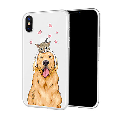 voordelige iPhone X hoesjes-hoesje Voor Apple iPhone XS / iPhone XR / iPhone XS Max Patroon Achterkant Hond Zacht TPU