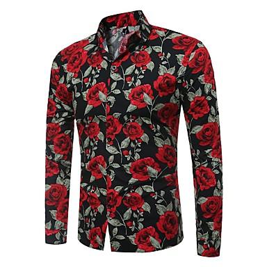 Men's Basic Shirt - Floral / Color Block