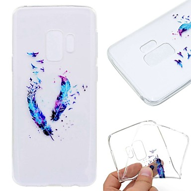 Case For Samsung Galaxy S9 Plus / S8 Transparent / Pattern Back Cover Feathers Soft TPU for S9 / S9 Plus / S8 Plus