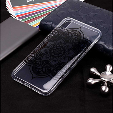 voordelige iPhone 6 hoesjes-hoesje Voor Apple iPhone XS / iPhone XR / iPhone XS Max Transparant / Patroon Achterkant Mandala Zacht TPU