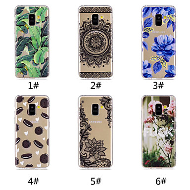 voordelige Galaxy A-serie hoesjes / covers-hoesje Voor Samsung Galaxy A6 (2018) / A6+ (2018) / Galaxy A7(2018) Patroon Achterkant Voedsel / Woord / tekst / Lace Printing Zacht TPU