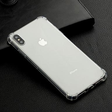 voordelige iPhone 6 Plus hoesjes-hoesje Voor Apple iPhone XS / iPhone XR / iPhone XS Max Schokbestendig / Transparant Achterkant Effen Zacht TPU
