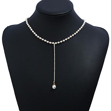 c128139ed5c2 abordables Joyería para Mujer-Mujer Clásico Collar Y Collar de cuentas Perla  Perla de oro