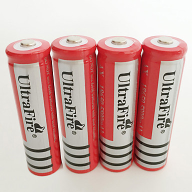 cheap DIY Parts and Tools-UltraFire BRC Li-ion 18650 Battery 4200 mAh 4pcs Rechargeable for LED Flashlight Bike Light Headlamps Hunting Climbing Camping / Hiking / Caving