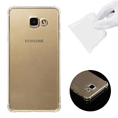 voordelige Galaxy A-serie hoesjes / covers-hoesje Voor Samsung Galaxy A7(2016) Schokbestendig / Transparant Achterkant Effen Zacht TPU