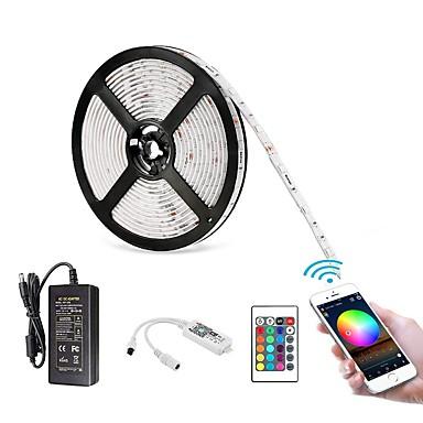 Недорогие Светодиоды и лампы-ZDM 5 м 16,4 фута водонепроницаемый Wi-Fi 24key беспроводной смартфон с управлением полосой света комплект 5050 светодиодные фонари