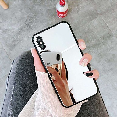 voordelige iPhone 7 hoesjes-hoesje Voor Apple iPhone XS / iPhone XR / iPhone XS Max Spiegel Achterkant Effen Hard Acryl