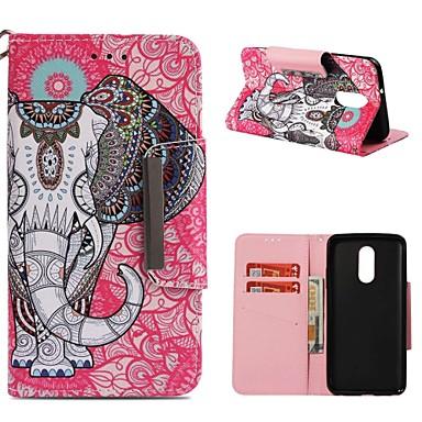 ieftine Carcase / Huse de LG-Maska Pentru LG LG Q Stylus / LG Stylo 4 / LG K30 Portofel / Titluar Card / Anti Șoc Carcasă Telefon Elefant Greu PU piele