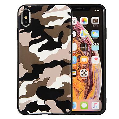 voordelige iPhone 6 hoesjes-hoesje Voor Apple iPhone XS / iPhone XR / iPhone XS Max Mat / Patroon Achterkant Camouflage Kleur Zacht TPU