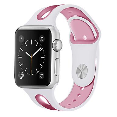 levne Pánské-Silica gel Watch kapela Popruh pro Apple Watch Series 4/3/2/1 Černá / Bílá / Modrá 20cm / 7.9 palce 2cm / 0.8 palce / 2.2cm / 0.9 palce