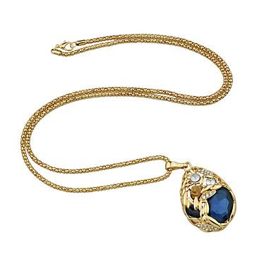 billige Mode Halskæde-Dame Pære lang halskæde Pære Romantik Mode Smuk Blå Lysebrun 84.5 cm Halskæder Smykker 1pc Til Daglig Stævnemøde