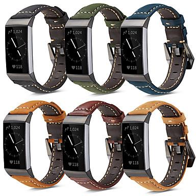 Παρακολουθήστε Band για Fitbit Charge 3 Fitbit Μοντέρνο Κούμπωμα Γνήσιο δέρμα Λουράκι Καρπού