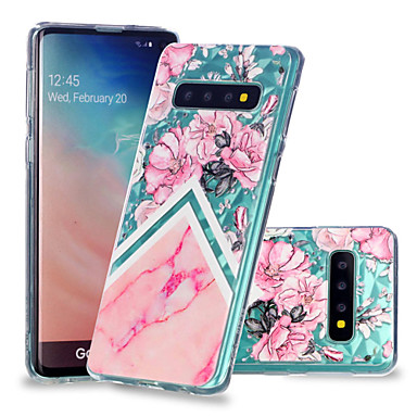 Case For Samsung Galaxy Galaxy S10 Plus / Galaxy S10 E Shockproof / Transparent / Pattern Back Cover Marble Soft TPU for S9 / S9 Plus / S8 Plus