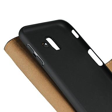 voordelige Galaxy J-serie hoesjes / covers-hoesje Voor Samsung Galaxy J8 (2018) / J7 (2017) / J7 (2018) Portemonnee / Kaarthouder / met standaard Volledig hoesje Effen Hard aitoa nahkaa