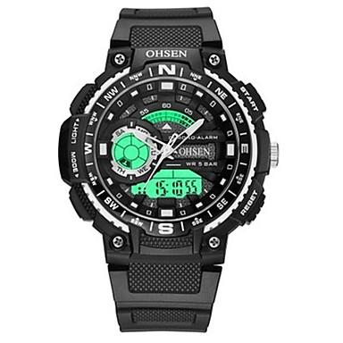 bfc5c6727 رخيصةأون ساعات الرجال-OHSEN رجالي ساعة رقمية رقمي مطاط أسود 50 m مقاوم  للماء رزنامه