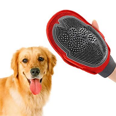 رخيصةأون مستلزمات وأغراض العناية بالكلاب-كلاب فرش / التنظيف فرش / الحمامات مزدوج / تدليك / قابل للغسيل أحمر