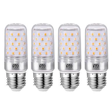 YWXLIGHT® 4db 12 W LED kukorica izzók 1200 lm E26 / E27 60 LED gyöngyök SMD 2835 Meleg fehér Hideg fehér 85-265 V