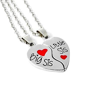 ddfcf718104cb Women's Silver Pendant Necklace Classic Broken Heart Heart Sweet ...