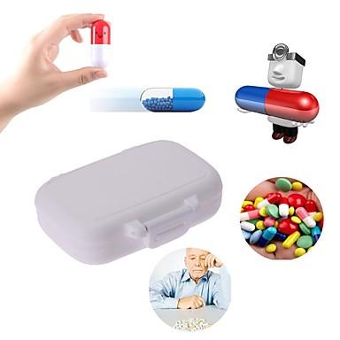 6 sloty přenosné lékařské pilulky box lék tablet lék skladování stojan držák