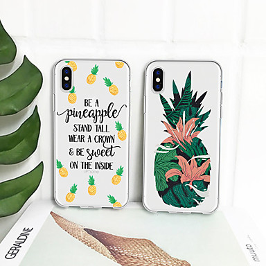 voordelige iPhone 5 hoesjes-hoesje Voor Apple iPhone XS / iPhone XR / iPhone XS Max Patroon Achterkant Fruit Zacht TPU