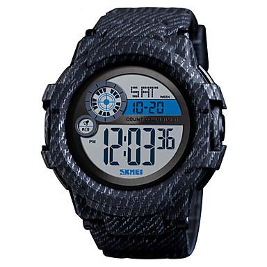 זול שעוני גברים-SKMEI בגדי ריקוד גברים שעון דיגיטלי דיגיטלי דמוי עור מרופד שחור / כחול 50 m עמיד במים לוח שנה שעון עצר דיגיטלי קלסי אופנתי - אדום ירוק כחול
