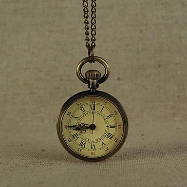 levne Pánské-Pánské Kapesní hodinky Křemenný Brązowy Hodinky na běžné nošení Cool Analogové Vintage Minimalistické - Bronzová