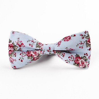 baratos Acessórios Masculinos-Homens Festa / Trabalho / Activo Gravata Borboleta Floral / Estampado