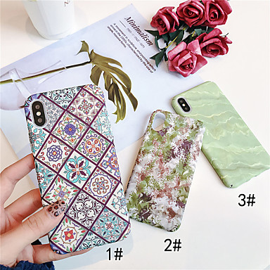 voordelige iPhone X hoesjes-hoesje Voor Apple iPhone XS / iPhone XR / iPhone XS Max Glow in the dark / Patroon Achterkant Planten Hard PC