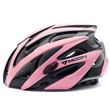ieftine Căști-MOON Adulți biciclete Casca 25 Găuri de Ventilaţie CE Rezistent la Impact Modelată integral Lumina Greutate EPS PC Sport Bicicletă montană Ciclism stradal Ciclism / Bicicletă - Negru / Roz Bărbați