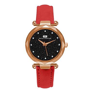 Недорогие Женские часы-Жен. Часы-браслет Классика Элегантный стиль Черный Красный Зеленый Искусственная кожа Китайский Кварцевый Лиловый Темно-зеленый Темно-синий Повседневные часы обожаемый 30 m 1 ед. Аналоговый