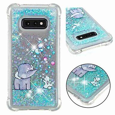 voordelige Galaxy S-serie hoesjes / covers-hoesje Voor Samsung Galaxy S9 / S9 Plus / S8 Plus Schokbestendig / Stromende vloeistof / Transparant Achterkant Glitterglans / Olifant Zacht TPU