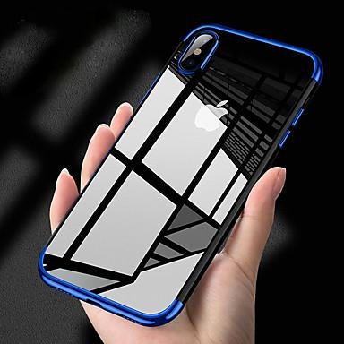 Case Kompatibilitás Apple iPhone XS Max / iPhone 6 Galvanizálás Fekete tok Egyszínű Puha TPU mert iPhone XS / iPhone XR / iPhone XS Max