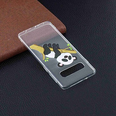 voordelige Galaxy S-serie hoesjes / covers-hoesje Voor Samsung Galaxy S9 / S9 Plus / S8 Plus Transparant / Patroon Achterkant Vlinder / Olifant / Panda Zacht TPU