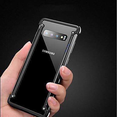 voordelige Galaxy S-serie hoesjes / covers-hoesje Voor Samsung Galaxy Galaxy S10 Plus Schokbestendig / Ultradun / Mat Bumper Effen Hard Aluminium