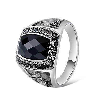 6991676339 cheap Couple Rings-Men's Couple's Black Crystal