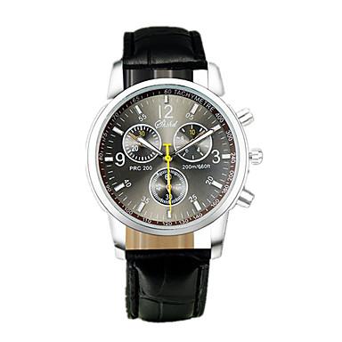 ราคาถูก นาฬิกาแบบสายหนัง-สำหรับผู้ชาย นาฬิกาแนวสปอร์ต นาฬิกาอิเล็กทรอนิกส์ (Quartz) หนัง ดำ / ฟ้า นาฬิกาใส่ลำลอง ระบบอนาล็อก แฟชั่น พระวจนะของนาฬิกา - สีดำ ฟ้า หนึ่งปี อายุการใช้งานแบตเตอรี่ / สแตนเลส