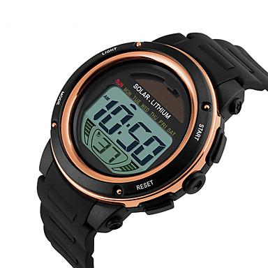 levne Pánské-SKMEI Pánské Digitální hodinky Digitální Silikon Černá 50 m Voděodolné Kalendář Stopky Digitální Na běžné nošení Barevná - Zlatá Fialová Modrá