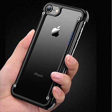 Недорогие Кейсы для iPhone-Кейс для Назначение Apple iPhone 8 / iPhone 7 Защита от удара / Матовое / Своими руками Бампер Однотонный Твердый Алюминий