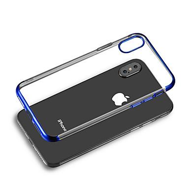 voordelige iPhone X hoesjes-hoesje Voor Apple iPhone XS / iPhone XR / iPhone XS Max Beplating Achterkant Transparant Zacht TPU