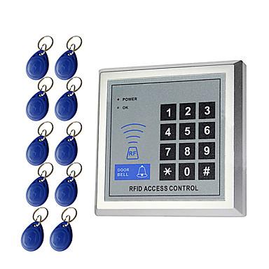 billige Adgangskontrolsystemer-5YOA AC-10KeyTK4100 Adgangskontrolsystem sæt / Adgangskontrol tastatur RFID Adgangskode / ID Kort Hjem / lejlighed / Skole