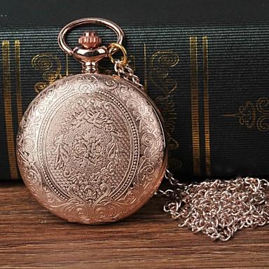 levne Pánské-Pánské Kapesní hodinky Křemenný Růžové zlato Hodinky na běžné nošení Velký ciferník Analogové Květina Módní - Růžové zlato