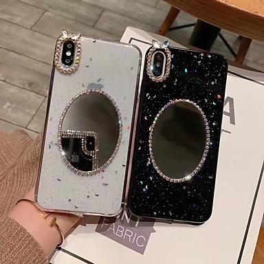 Недорогие Кейсы для iPhone-Кейс для Назначение Apple iPhone XS / iPhone XR / iPhone XS Max Зеркальная поверхность / Полупрозрачный / Сияние и блеск Кейс на заднюю панель Сияние и блеск Твердый ТПУ