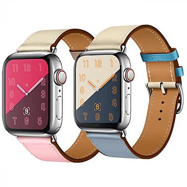 Недорогие Ремешки для Apple Watch-Ремешок для часов для Apple Watch Series 4/3/2/1 Apple Кожаный ремешок Натуральная кожа Повязка на запястье