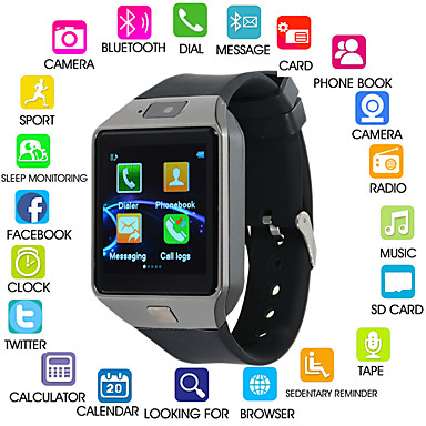 1adfbacac82 cheap Smart watches-Kimlink DZ09S Men Smartwatch iOS Bluetooth Touch Screen  Calories Burned Hands-