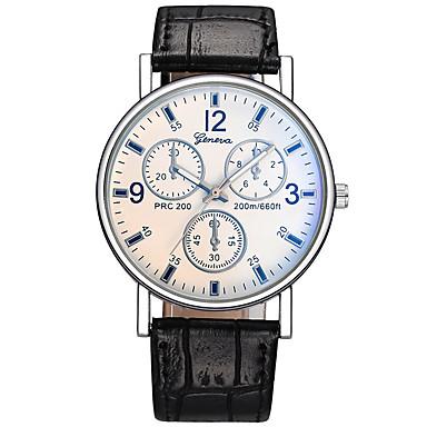 זול שעוני גברים-בגדי ריקוד גברים שעוני שמלה שעון תעופה קווארץ עור שחור / חום שעונים יום יומיים אנלוגי אופנתי מינימליסטי אריסטו - חום כחול שחור לבן שנה אחת חיי סוללה / מתכת אל חלד