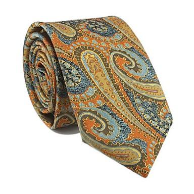 economico Abbigliamento uomo-Per uomo Da serata / Da ufficio / Essenziale Cravatta Con stampe / Motivo cashemire / Jacquard