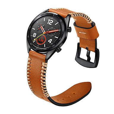 abordables Correas para Huawei-Ver Banda para Huawei Watch GT / Watch 2 Pro Huawei Correa Deportiva / Hebilla Clásica Cuero Auténtico Correa de Muñeca