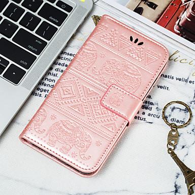 Недорогие Чехлы и кейсы для Galaxy S6 Edge-Кейс для Назначение SSamsung Galaxy S9 / S9 Plus / S8 Plus Кошелек / Бумажник для карт / Флип Чехол Животное Мягкий Кожа PU